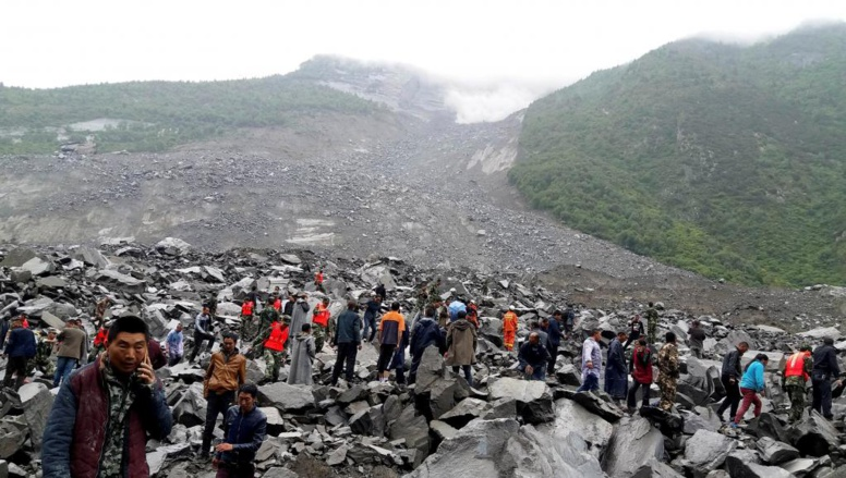 Chine: grave glissement de terrain dans un village montagneux du Sichuan