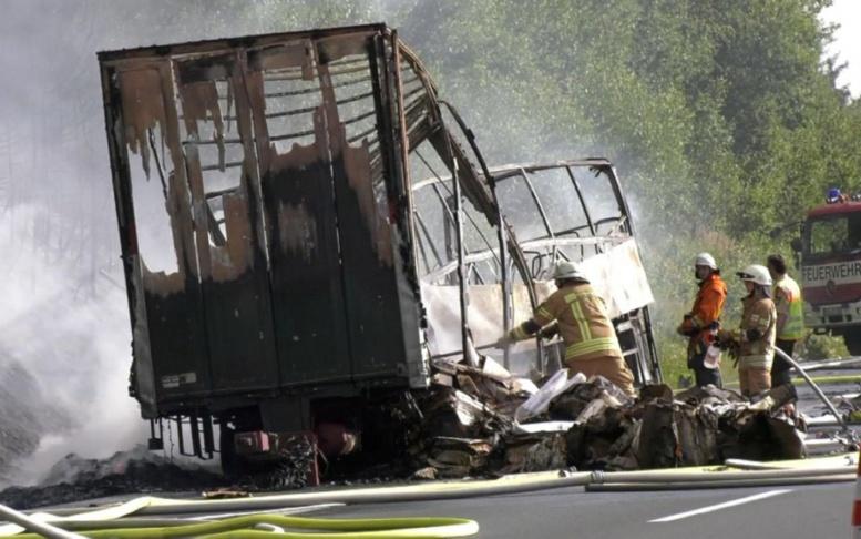 Dramatique accident de car en Allemagne