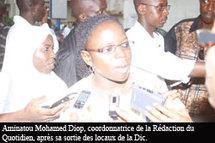 Les journalistes Mohamed Gueye et Aminatou Diop à la disposition de la DIC