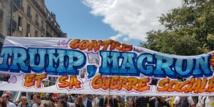 Manifestation à Paris contre la réforme du travail et la venue de Trump