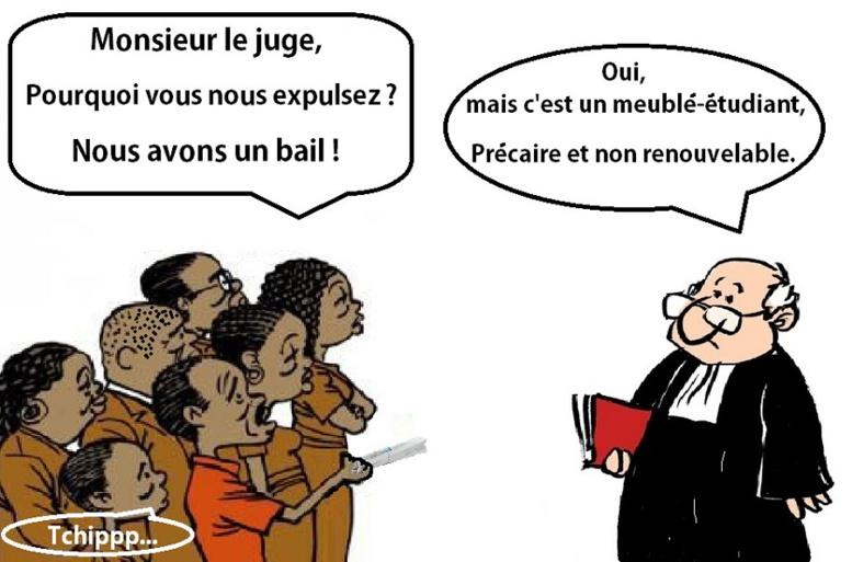 Des étudiants africains deviennent SDF en France. (Partie 1 : La responsabilité du bail précaire)