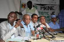 Les responsables et administrateurs du BSDA lors d'une conférence de presse (Photo: APS)