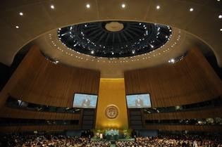 """Pour Kadhafi, l'ONU """"n'est qu'un décor"""""""