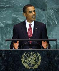 Barack Obama présentait son premier discours à l'ONU. Il a détacher quatre