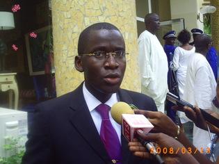 Le ministre délégué chargé des collectivités locales, Aliou Sow