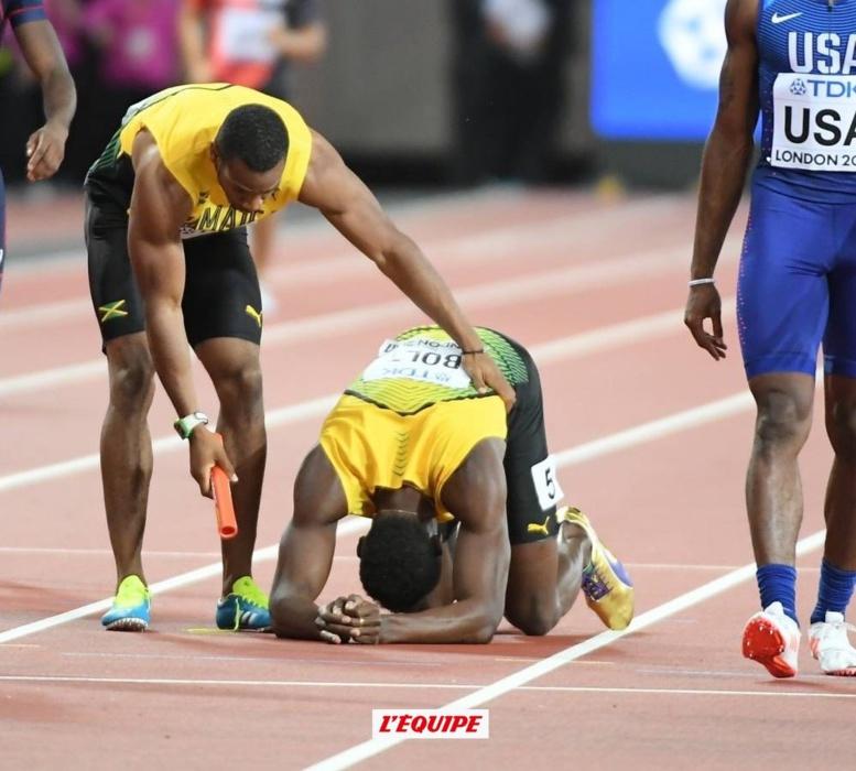 Usain Bolt victime d'un claquage lors de sa dernière course