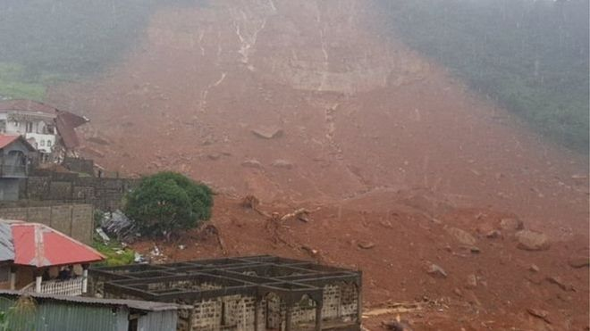 Sierra Leone: des coulées de boue font 180 morts à Freetown