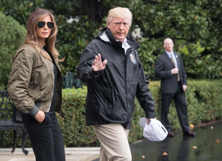 Tempête Harvey : Donald Trump et son épouse sont arrivés au Texas