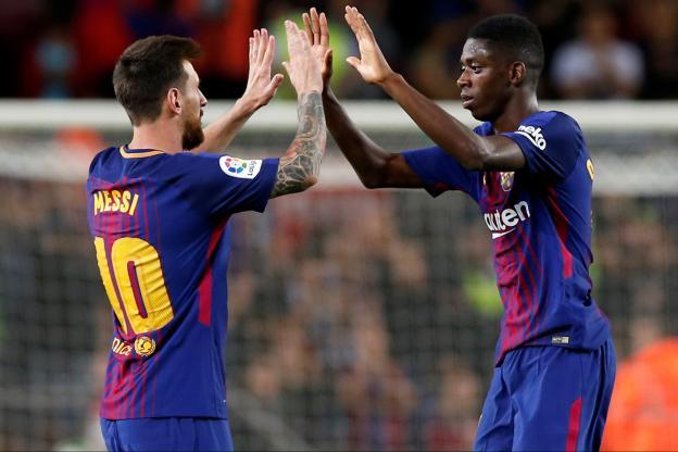 Dembélé dans le Onze du Barça contre la Juventus