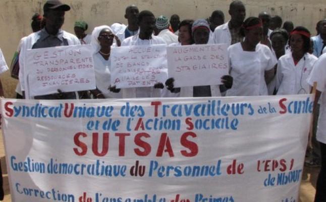"""Meilleures conditions des travailleurs de la Santé : Le SUSTSAS et le SUDTM  lancent «AND GUESSEUM »... pour """"secouer"""" l'Etat"""