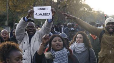 Manifestation à Paris contre l'esclavage en Libye