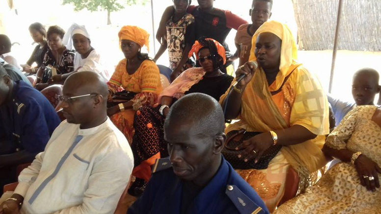 Mme Ndeye Mbaye, président de la commission Santé de la Commune de Darou Khoudoss lors de l'inauguration de la Case de santé de Khonkoye