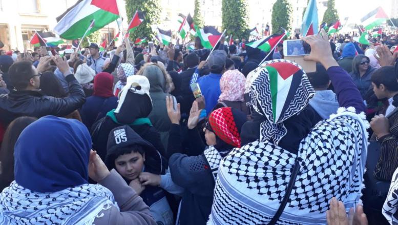 Statut Jérusalem : Des milliers de marocains dans les rues de Rabat pour manifester contre la déclaration de Trump