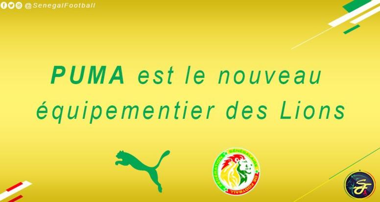 """Urgent - La Fédération sénégalaise de football choisit Puma pour équiper les """"Lions"""""""
