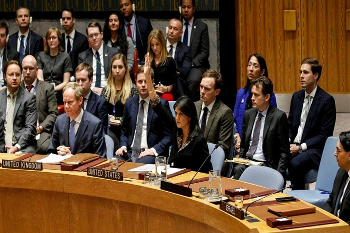 Jérusalem: veto américain à l'ONU sur une condamnation voulue par 14 pays