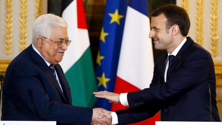 Jérusalem: à Paris, Abbas plaide pour un Etat palestinien auprès de Macron
