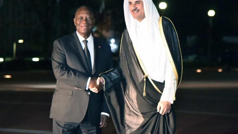 Première visite officielle de l'émir du Qatar en Côte d'Ivoire