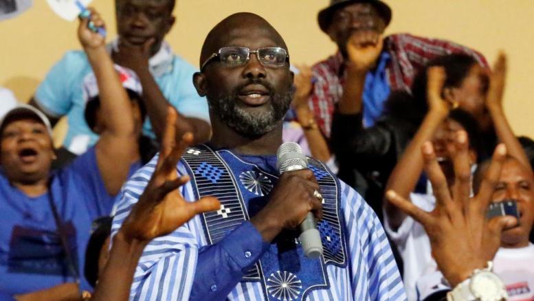 Liberia: dernier grand meeting de George Weah avant l'élection présidentielle