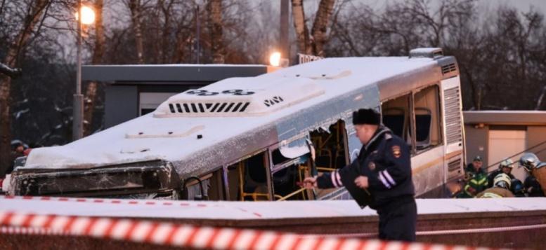 Un autobus fonce dans un passage à Moscou: probable accident - 4 morts