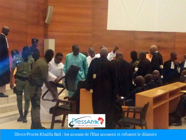 Direct-Procès Khalifa Sall : les avocats de l'Etat accusent et refusent le dilatoire