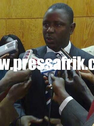 Le Ministre de la Jeunesse, des Sports et des Loisirs, Mamadou Lamine Keïta