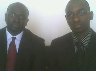 De gauche à droite MM. Thiaw et Fall, auteurs de l'étude.