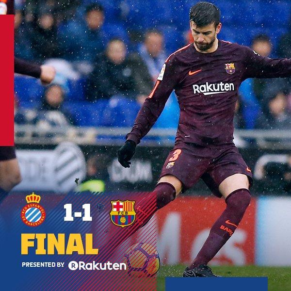 Piqué sauve Barcelone — Liga