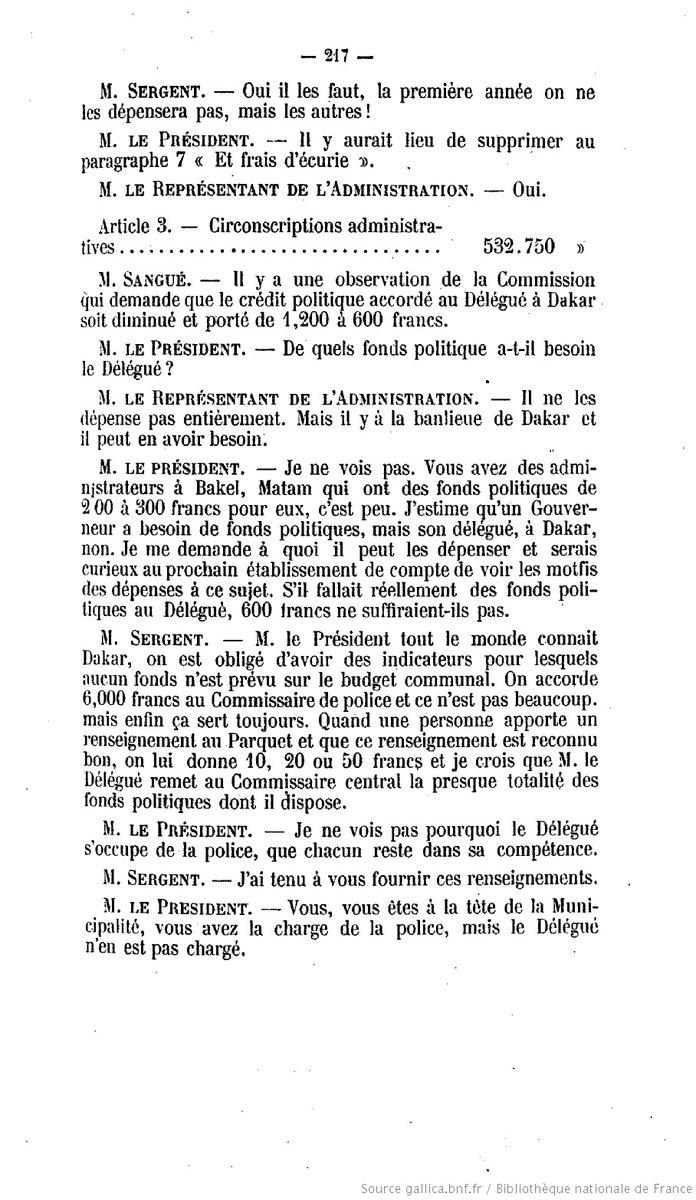 Les avocats de la défense demandent la projection d'un document des archives Françaises celui du «procès-verbal de la séance du 30 oct 1923» dirigé par M. Louis Guillabert avec la présence du maire de Dakar en 1923 M. Jules SERGENT successeur de Blaise DIAGNE