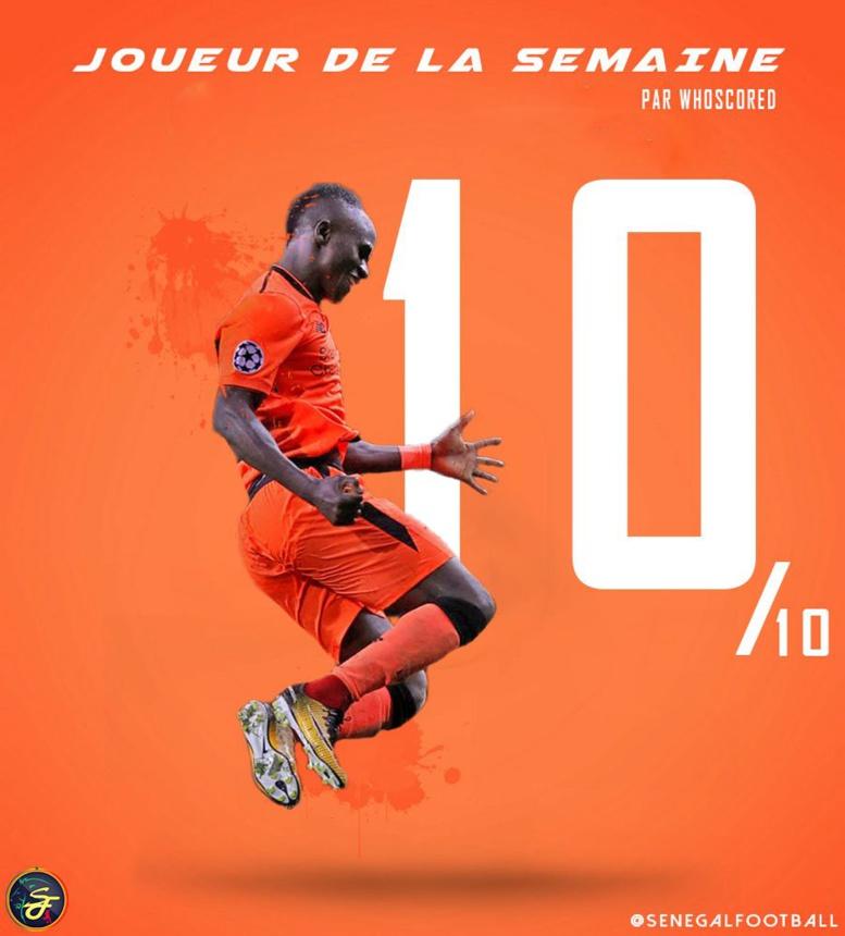 Ligue des champions : Sadio Mané dans le Onze type de la semaine...dominé par les Anglais