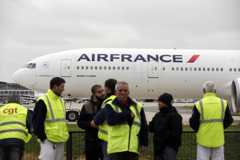 Air France: Les pilotes et le personnel navigant en grève jeudi
