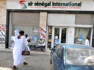 Une agence d'Air Sénégal sur l'avenue Hassan II à Dakar.