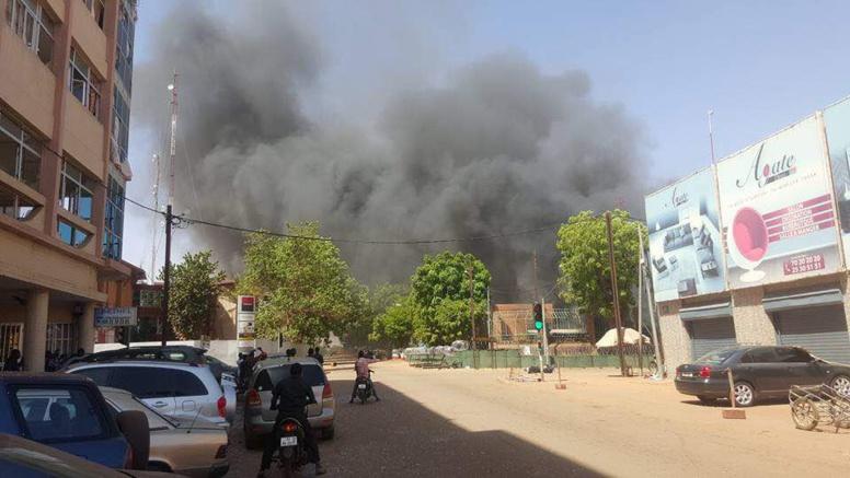 Premières images de l'explosion entendue ce vendredi matin au centre de Ouagadougou