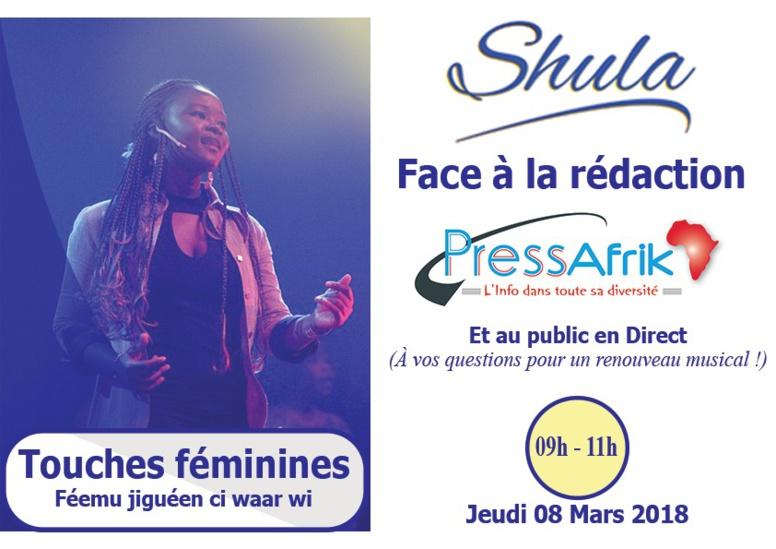 """Dans quelques instants Shula sera à DIRECT """"Face à la Rédaction"""" de PressAfrik"""