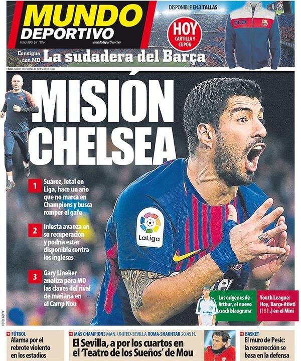 Les Unes des journaux sportifs en Espagne du 13 mars 2018