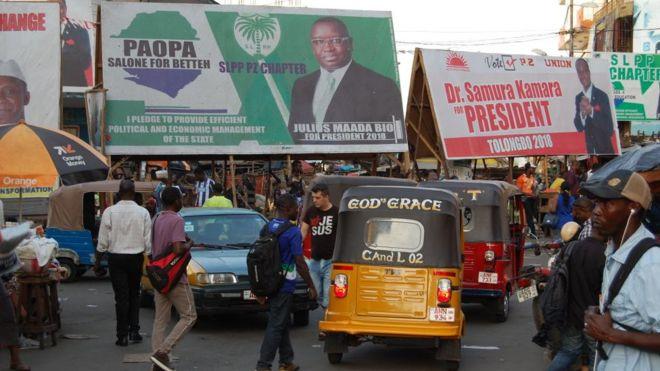 Suspension provisoire du second tour de l'élection présidentielle — Sierra Leone