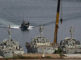 La marine israélienne est intervenue ce samedi matin 5 juin 2010 pour empêcher le Rachel-Corrie d'atteindre le port de Gaza.