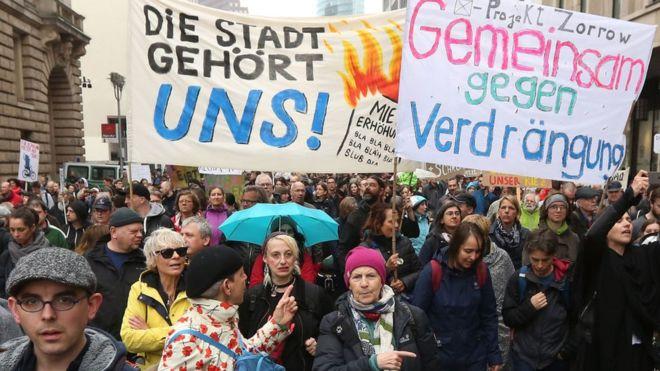 Manifestation à Berlin contre la cherté des loyers