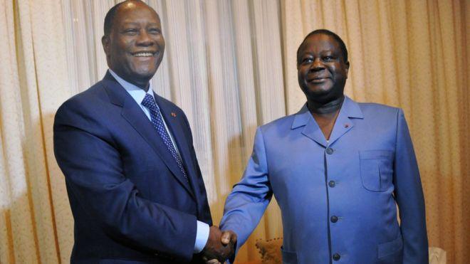 Côte d'Ivoire : Ouattara et Bédié d'accord pour le parti unifié