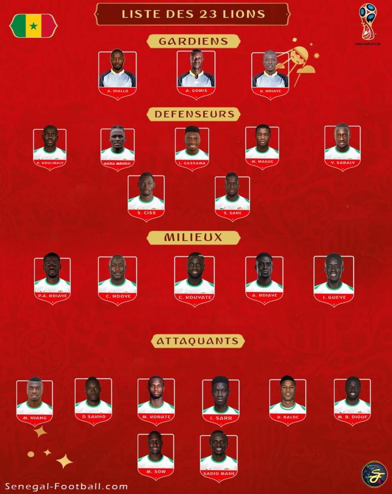 """Liste des """"Lions"""" : les  4 réservistes d'Aliou Cissé"""