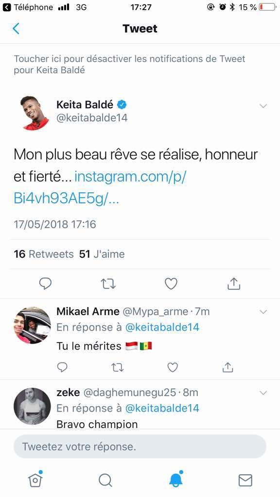 """Liste de Aliou Cissé pour le Mondial : les """"Lions"""" réagissent sur Twitter"""