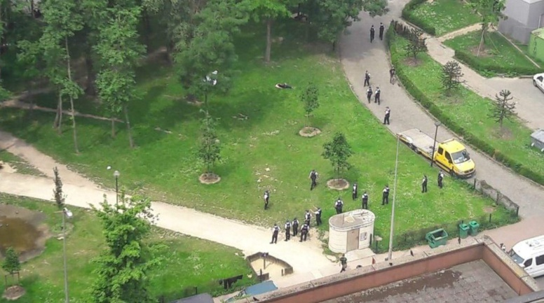 Action au Parc Maximilien pour déloger quelque 150 migrants