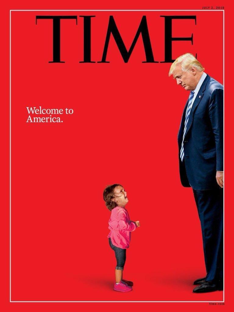 """La Une choc du Times sur le Président Trump : """"Bienvenue en Amérique"""""""