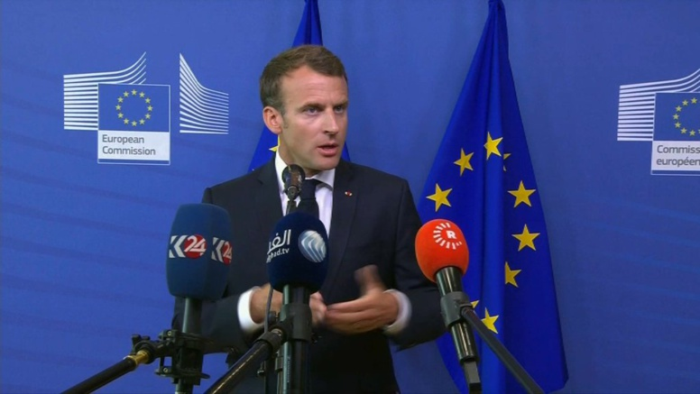 """Macron: la France """"n'a de leçons à recevoir de personne"""" sur la question des migrants"""