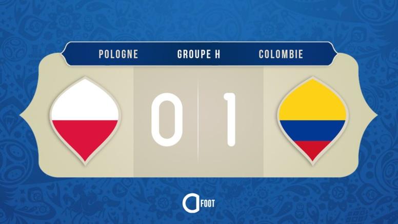 La Colombie ouvre le score (1-0)