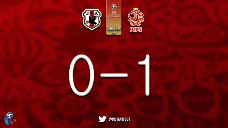 La Pologne ouvre le score contre le Japon (1-0)
