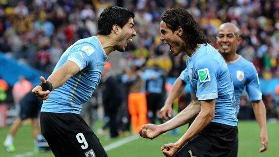 #URUPOR : Cavani ouvre le score pour l'Uruguay (1-0)