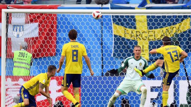 #SWESUI: la Suéde ouvre le score (1-0)