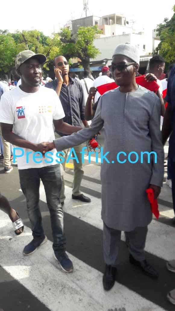 Direct- Marche de l'opposition: Pape Diop et Mansour Sy Djamil sonnent la charge