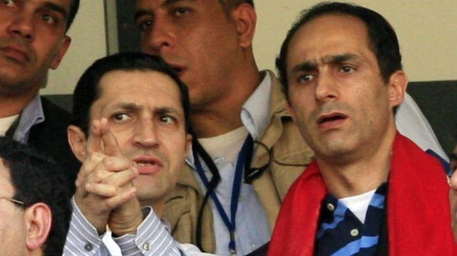 Arrestation des fils de Hosni Moubarak
