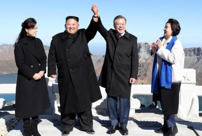Les dirigeants des deux Corées affichent leur unité au mythique mont Paektu
